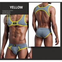 新品純棉運動健身套裝 性感型格男士小背心加三角底褲 內褲 內著 男裝內衣